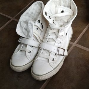 Aldo Size 6.5 7 (37) Shoes Sneaker High Top Flip